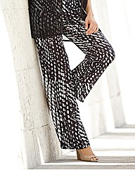 Gelco Abstract Spot Wide Leg Trousers