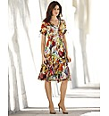 Gelco Tropical Print Chiffon Dress