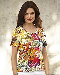Gelco Tropical and Animal Jersey Top