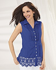 Apanage Cotton Sleeveless Shirt