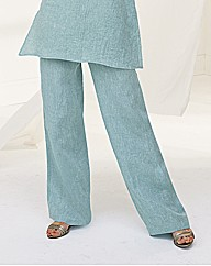Sulu Marl Linen Wide Leg Trousers