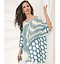 Sulu Contrast Stripe & Spot Silky Kaftan