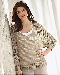 Passport Sequin Open Knit Jumper