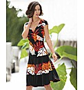 Frank Lyman Leaf Print Dress
