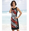 Joseph Ribkoff Jersey Print Flame Dress