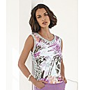 Gelco Print and Stripe Vest Top