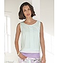 Gelco Pleated Front Sleeveless Top