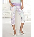 Gelco Floral Print Crop Trousers
