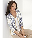 Gelco Floral Print Zip Up Jersey Jacket