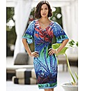Frank Lyman Palm Print Jersey Dress