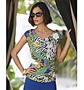 Frank Lyman Baroque Print Top