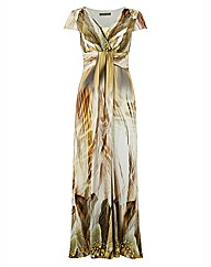 Michaela Louisa Mixed Print Maxi Dress