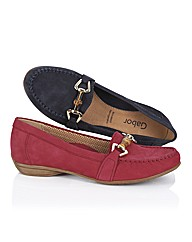 Gabor Suede Loafer With Metal Trim