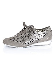 Gabor Metallic Cut Out Trainer