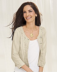 Gray & Osbourn Crochet Cropped Cardigan