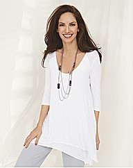 Ronen Chen Double Layer 3/4 Sleeve Top