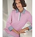 Alice Collins Cotton Polo Top