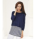 Rabe 2-In-1 Stripe Knitted Vest Top