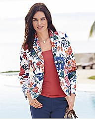 Gray And Osbourn Floral Print Blazer