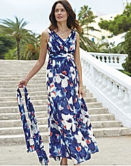 Gina Bacconi Water Colour Chiffon Dress