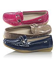 Van Dal Patent Loafer With Block Heel
