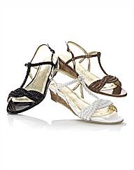 Van Dal Patent Plait Sandal