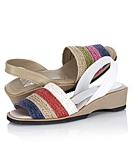 Riva Striped Open Toe Woven Sandals
