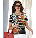 Gerry Weber Stripe and Floral Print Top