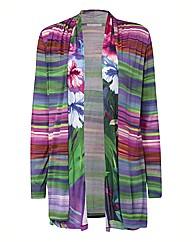 Basler Rainbow Stripe Jersey Cardigan