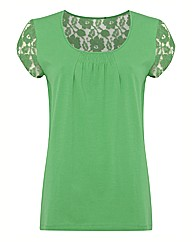 Betty Barclay Lace Detail Jersey Top