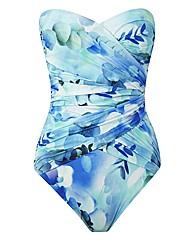 Gottex Bandeau Print Swimsuit