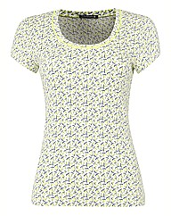 Betty Barclay Ribbed Print Jersey Top