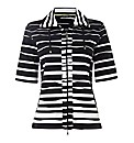Gerry Weber Jersey Stripe Zip Up Jacket