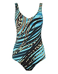Glumann Animal Print Abstract Swimsuit
