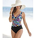 Gottex Multi Print Frill Detail Swimsuit