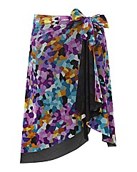 Gottex Printed Wrap Skirt