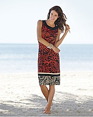 Gerry Weber Print & Bead Shift Dress