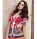 Gerry Weber Printed Zip Up Jacket