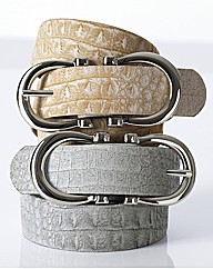 Stephen Collins Reptile Buckle Belt