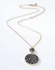 Adele Marie Jewel Disc Necklace