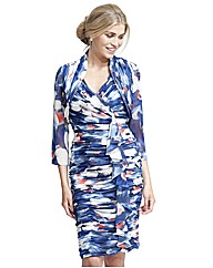 Gina Bacconi Print Dress & Bolero