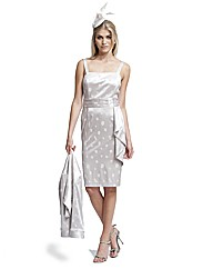 Gina Bacconi Stretch Jacquard Dress