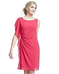 Gina Bacconi Poppy Frill Chiffon Dress
