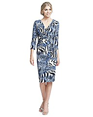 Gina Bacconi Zebra Print Dress