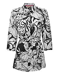 Gelco Printed Cotton Voile Overshirt