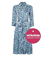 Gina Bacconi Printed Shirt Dress