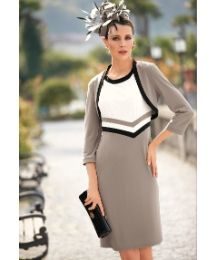 Gina Bacconi Colourblock Dress & Bolero
