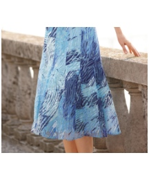 Gray and Osbourn Print Devore Skirt