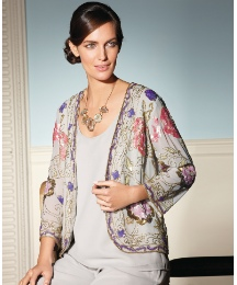 Gray & Osbourn Floral Beaded Jacket