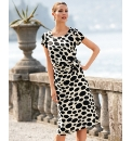 Chesca Spot Print Georgette Dress